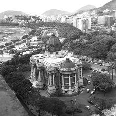 O Palácio Monroe, em 1960 na Cinelândia, Rio de Janeiro -Acervo Agência O Globo