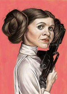 """La actriz Carrie Fisher, famosa por interpretar a la Princesa Leia en la saga """"Star Wars""""..."""