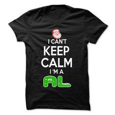 (Tshirt Discount) Keep Calm AL Christmas Time 0399 Cool Name Shirt Tshirt-Online Hoodies, Tee Shirts