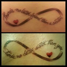 Sister infinity tattoo, change to mother and daughter? Sister Tattoo Infinity, Infinity Tattoos, Infinity Symbol, Sister Tattoo Designs, Sister Tattoos, Daughter Tattoos, Trendy Tattoos, Small Tattoos, Key Tattoos