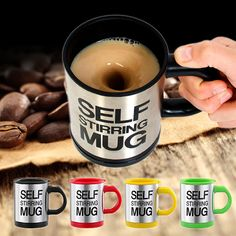hot sale New Stylish 6 colors Stainless Steel Lazy Self Stirring Mug Auto Mixing Tea Milk Coffee Cup Office Gift Eco-Friendly <3 Click the image to find out more