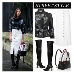 """""""Fall Street Style"""" by junglover ❤ liked on Polyvore featuring Les Petits Joueurs, Current/Elliott, Stuart Weitzman and Alexander McQueen"""