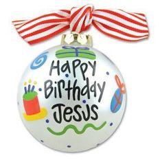 Happy Birthday, Jesus ornament