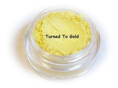 Mineral Eyeshadow Makeup Turned To Gold Eye by BeautyBarBaby
