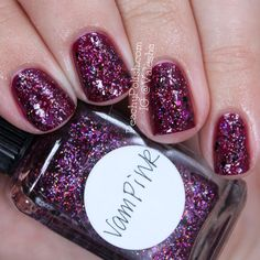 Lynnderella VamPink over OPI Casino Royale