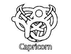celtic capricorn coloring page celtic capricorn download now png ...