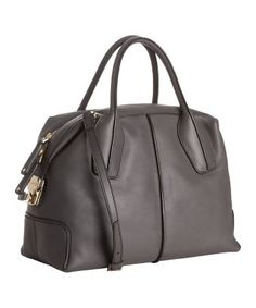 grey leather bauletto 'D-Styling' tote
