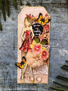 We've used Craftreat Stencil and modelling paste to add some texture on the paper and other prima supplies to decorate the project. We've also used the Craftreat Decoupage Butterflies Paper to add the extra oomph and glamour.To finish the tag we splattered Distress Stain and that adds the shabby chic effect to this tag.