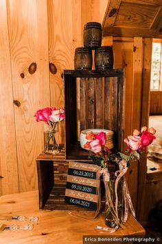 Rustic wood display signage with pink flowers Wedding Signage, Rustic Wedding, Big Sky Barn, Wedding Inspiration, Wedding Ideas, Wood Display, Signature Cocktail, Wedding In The Woods, Rustic Wood