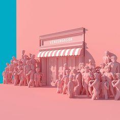 Surreal Pink Scenes by Lee Sol – Fubiz Media Vaporwave, 3d Artwork, Everything Pink, Pink Aesthetic, Pastel Pink, My Favorite Color, Cannes, Pretty In Pink, Instagram