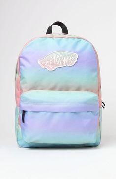 Vans Realm Tie-Dye School Backpack - Womens Backpack - Rainbow Ab - One