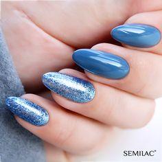 Semilac Platinum, bling nails