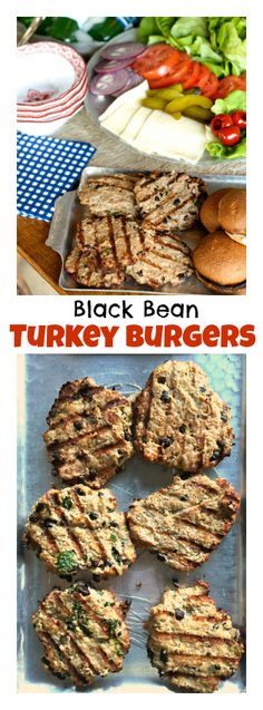 Black Bean Turkey Burgers | Reluctant Entertainer #summer #fourthofjuly