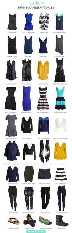 The perfect capsule wardrobe for Summer. Inspiring, and you can shop the post!