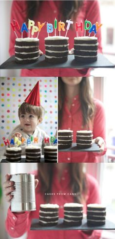 Use Tin Cans to Bake Little Cakes