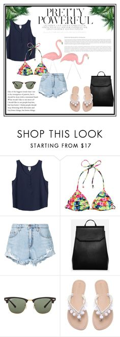 """Summer in South America!"" by lululafitte on Polyvore featuring moda, Monki, H&M, Nobody Denim, CHARLES & KEITH, Ray-Ban y Concord"