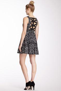 Crisscross Back V-Neck Dress