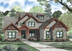 Architectural Designs Rugged House Plan 59994ND  2 beds up. 1 (or 2) down.  ~3,600 sq. ft.  Ready when you are. And being built by our client in Michigan. Hope to see photos one day...