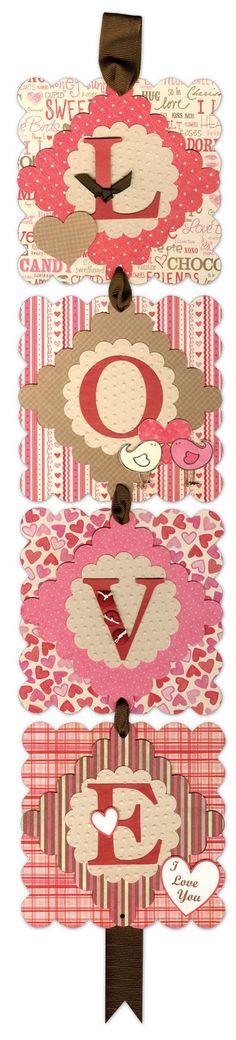 Diane's PaperArt Creations Kits: LOVE Valentine Banner