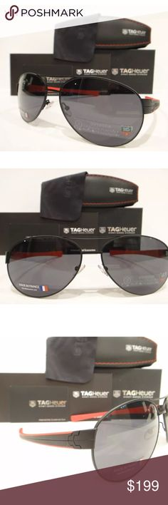 bf551ccccac Tag Heuer 0256 Sunglasses LRS Matt Black Authentic These are 100% Genuine