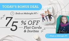 Act fast: 75% off flat cards & invites ends tonight    |    USE CODE: ZAZCYBERWEEK