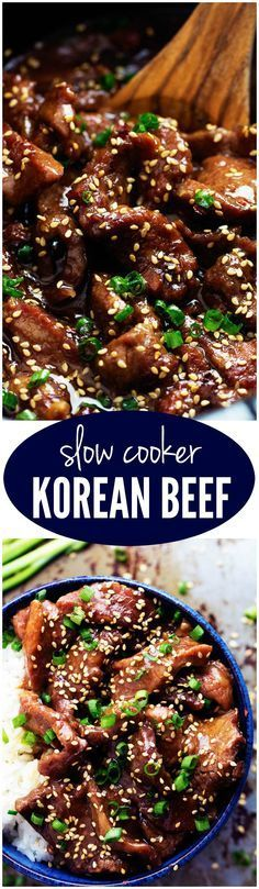 Slow Cooker Korean Beef - Amazing and flavorful beef that slow cooks to tender melt in your mouth perfection! This will be one of the best meals that you will make! *For a gluten-free entree, be sure to use gluten-free tamari instead of soy sauce! Slow Cooker Korean Beef, Crock Pot Slow Cooker, Crock Pot Cooking, Slow Cooker Recipes, Cooking Recipes, Cooking Time, Korean Beef Brisket Recipe, Mongolian Beef Slow Cooker Recipe, Bulgogi Recipe Easy