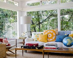 Bright colors, rustic furnishings, and fun accessories will give you a gorgeous, welcoming space.