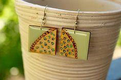Martinuska / Squares/wood earrings