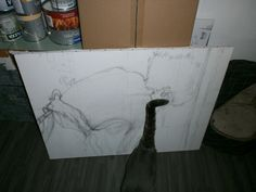 the start of a painting it's almost ready.