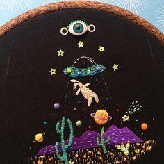 Say bye to the bunnyman✨#secretcivilizationoftheblackcats #embroidery…