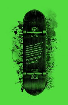 The Print Ad titled Skateboard was done by Filadelfia Belo Horizonte advertising agency for product: Ragga Magazine (brand: Ragga) in Brazil. Clever Advertising, Print Advertising, Print Ads, Advertising Agency, Ad Design, Print Design, Graphic Design, Poster On, Poster Prints