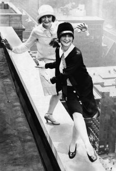 Flappers dancing the Charleston on the roof of Chicago's Sherman Hotel, December 11, 1926.