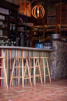 Caribbean bar front