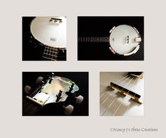 Banjo Prints FOUR PHOTO SET Unframed Musical Instrument Photography Music Decor White Gold Black Wall Art Gift for Musician Home or Office Decor 5x5 5x7 8x8 8x12 12x12 12x18 16x16 16x24 20x20 20x30. Create the room of your dreams with this four print set of a beautiful Fender banjo. This set of fine art instrument photographs creates a stunning display in any home or office. Title: Dueling Banjos This set of four photo prints is discounted 40% from my regular print prices! These…