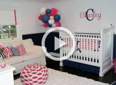 Project Nursery - Pink-and-Navy-Nursery