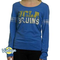 Going for a vintage look to keep you warm? Look no further Bruins! A UCLA Store exclusive that features UCLA Bruins in cheer-ready gold and white distressed screenprint.
