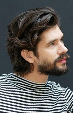Mens Hairstyles With Beard, Hair And Beard Styles, Long Hair Styles, Medium Length Hair Men, Ben Whishaw, Scruffy Men, Beard Look, Gay Men, Men's Hair