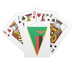 #country - #Zambia Flag Triangle Playing Cards