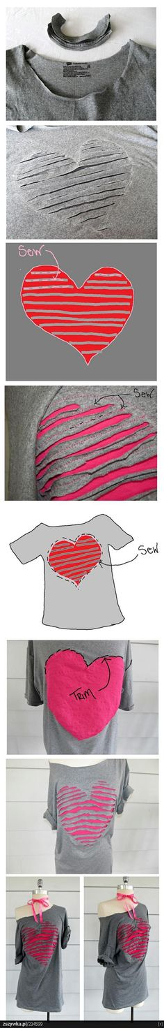 How to make a #love #heart t-shirt! #clothing sense