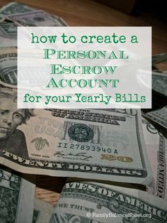 Do you struggle paying your yearly bills? We did too until I started a monthly system and I now have peace that we'll have the money when the bill arrives in the mail. Learn how to create a personal escrow account for your yearly bills  Personal Finance #money