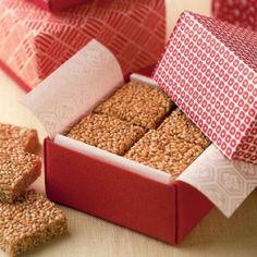 Crunchy Sesame Bars