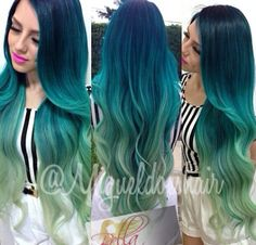 The most perfect Mermaid hair I've ever seen. Color, LENGTH and curls! I DIE.