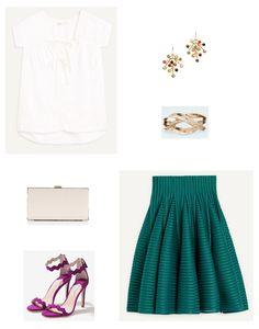look boda falda verde