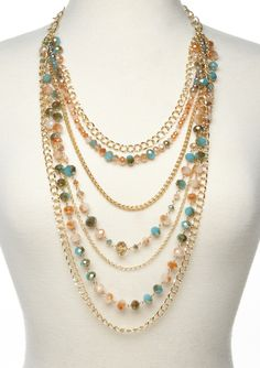 ideeli | MORGAN ASHLEIGH Layered Beaded Necklace