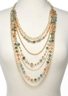 ideeli | MORGAN ASHLEIGH Layered Beaded Necklace