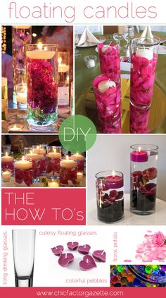 DIY Floating Candles : How to make floating candles, Floating Candle Wedding Decor, Floating Candles for Dinner Date | Chic Factor Gazette