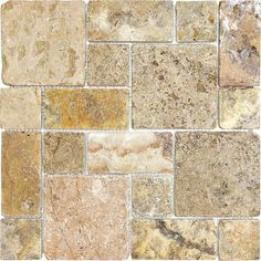 Discount Glass Tile Store - Scabos Roman Pattern Mosaic - Tumbled Travertine Mosaic, $7.29 (http://www.discountglasstilestore.com/scabos-roman-pattern-mosaic-tumbled-travertine-mosaic/)