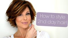 I LOVE her tutorials and her hair...Styling Tips For Second & Third Day Hair