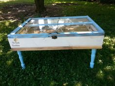 Vintage Window Shadow Box Table by TheRusticBumblebee on Etsy
