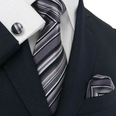 Just the tie and shirt, only the pocket square should NOT match the tie!